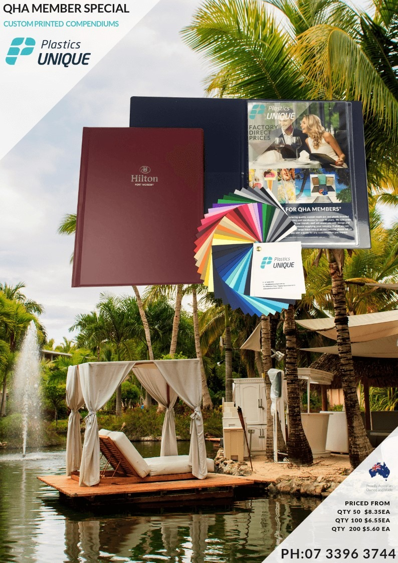 Custom branded room compendiums for guest information
