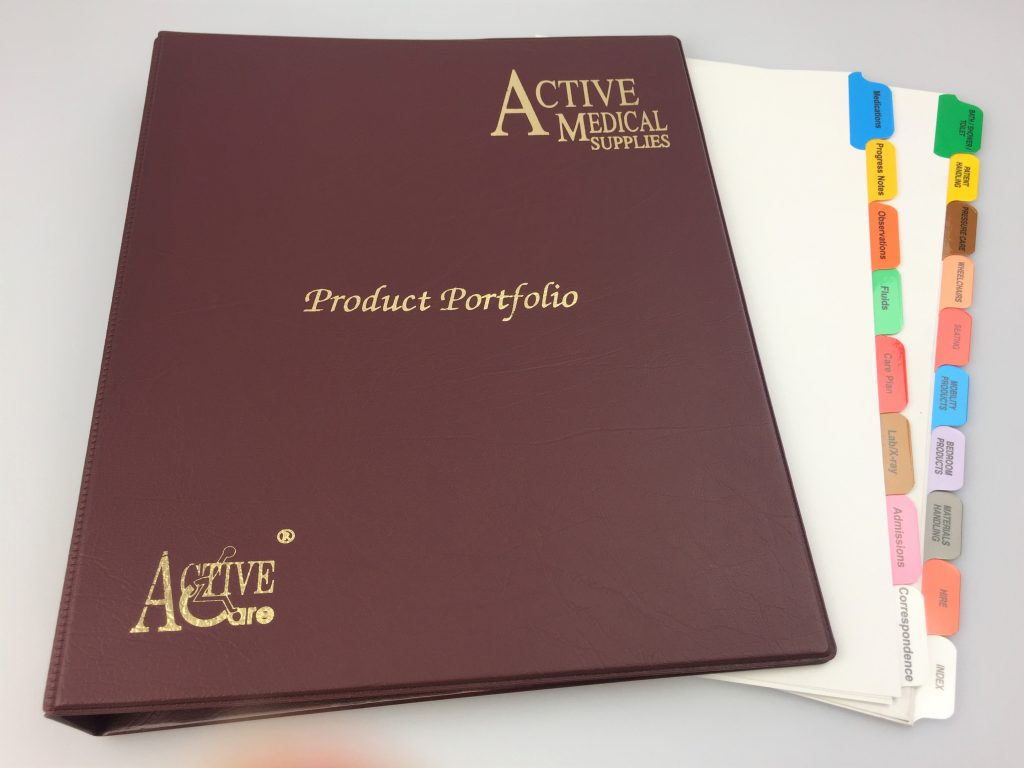 Custom, Branded, Printed, heavy duty tab dividers.