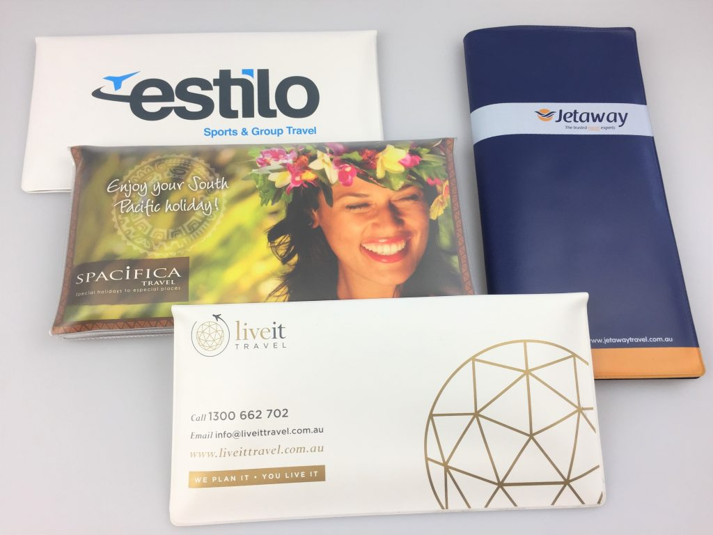 Travel ticket wallets come in a range sizes, colours and print options at factory direct prices and are made in Australia