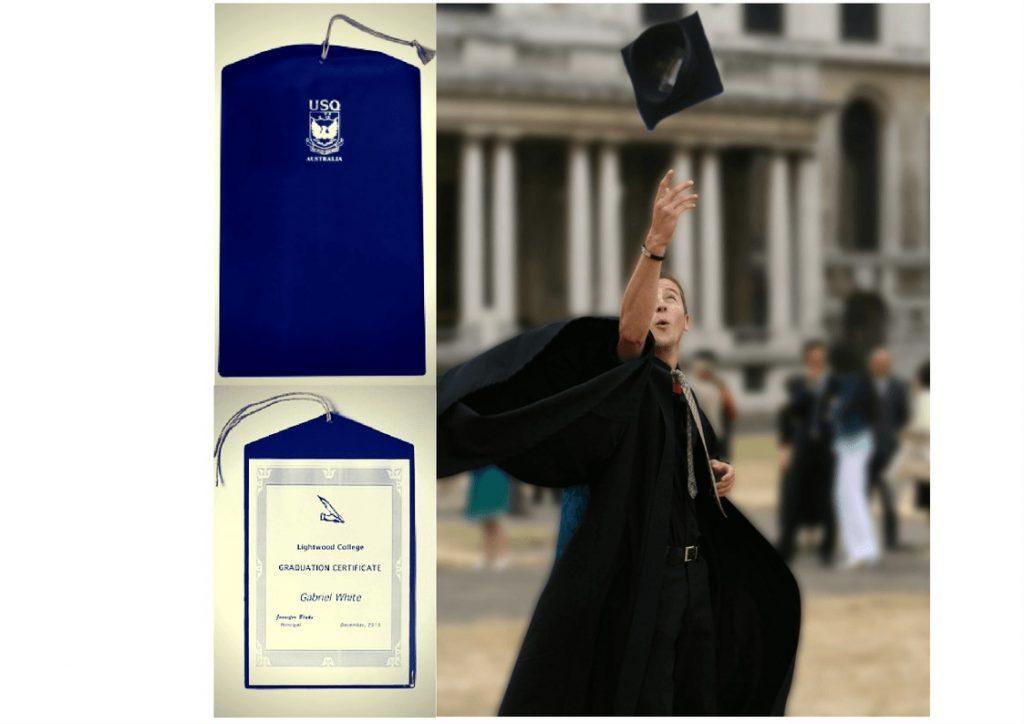 Graduation Certificate Display Pocket