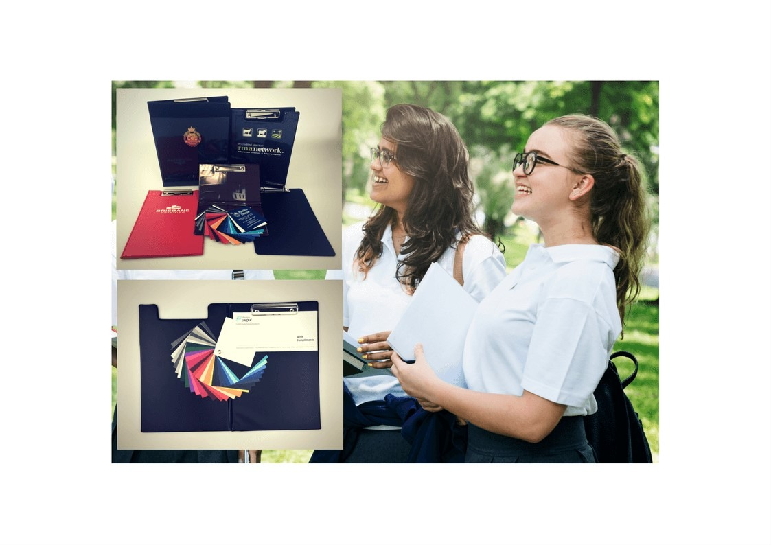 School Branded Clipboard Folders