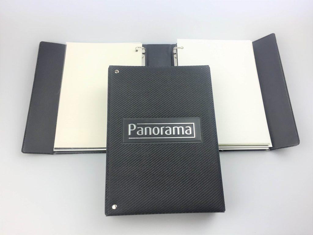 Material samples or swatch display folder