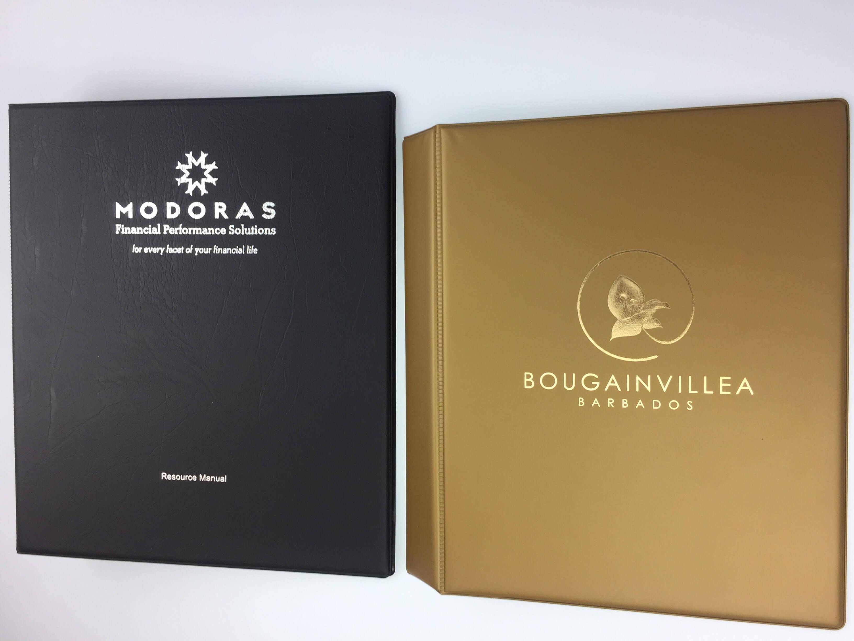 silver and gold foil print vinyl pvc folders