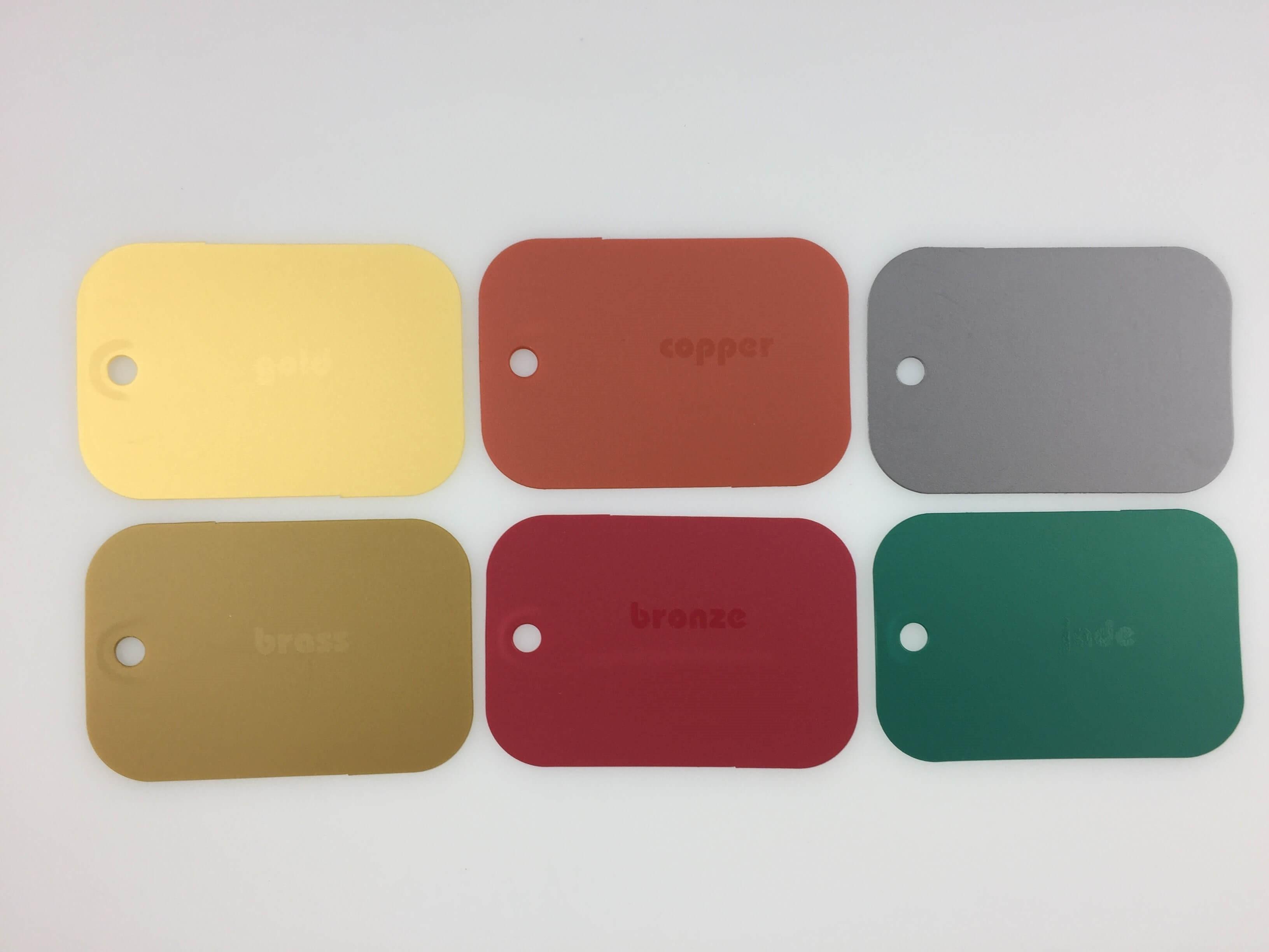 Plastic Unique's Range of Metallic Polypropylene Colours
